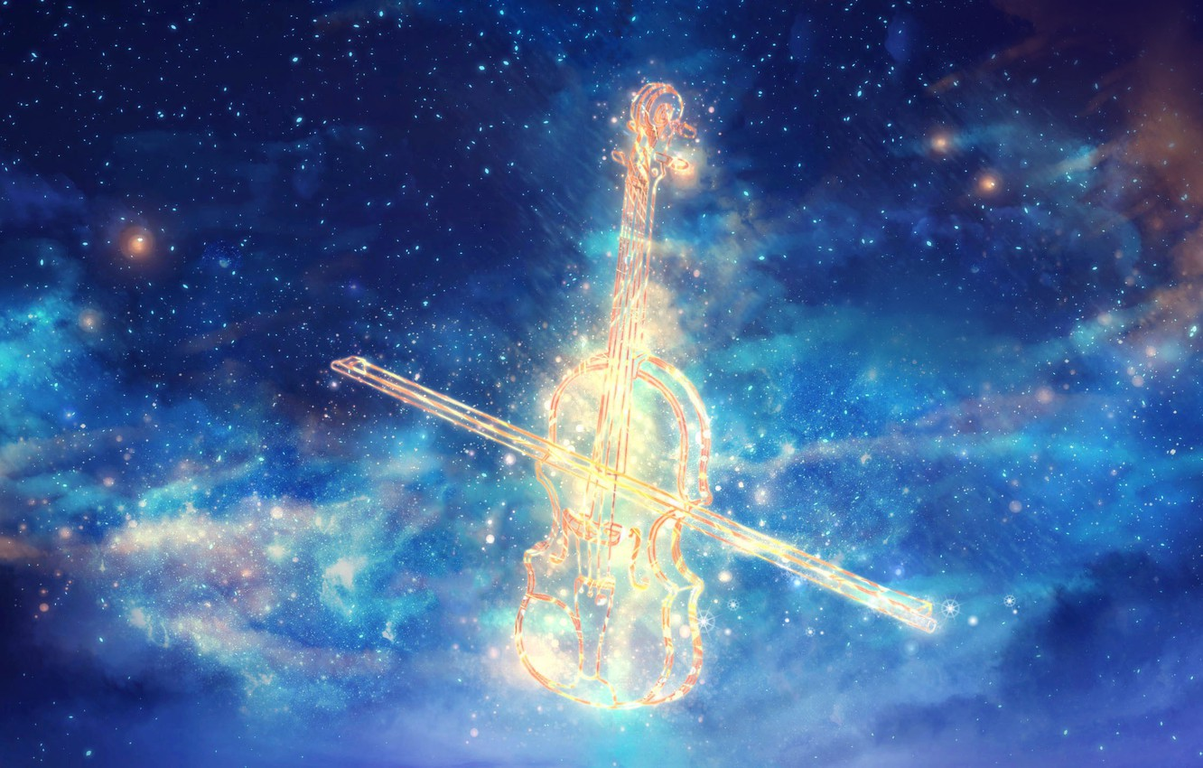 Wallpaper space, music, violin, by CZY images for desktop, section