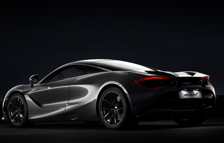 Photo wallpaper Auto, Night, Machine, Grey, Transport & Vehicles, McLaren 720s