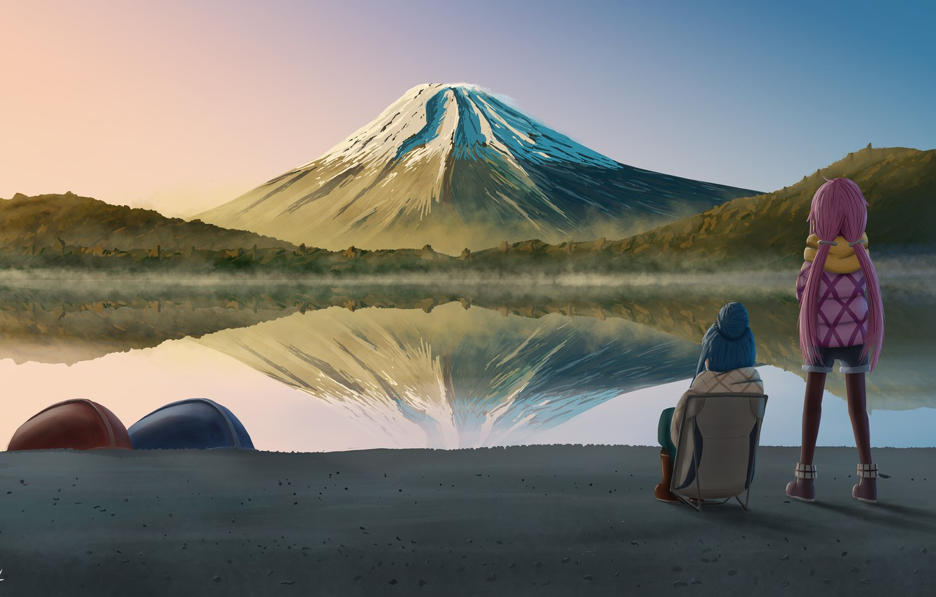 Wallpaper Landscape Nature Mountain Camping Girly Camping Laid Back Camp Images For Desktop Section Syodzyo Download