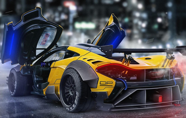Photo wallpaper McLaren, Auto, Machine, Rendering, Sports car, McLaren P1, Dmitry Strukov, Dizepro, by Dmitry Strukov