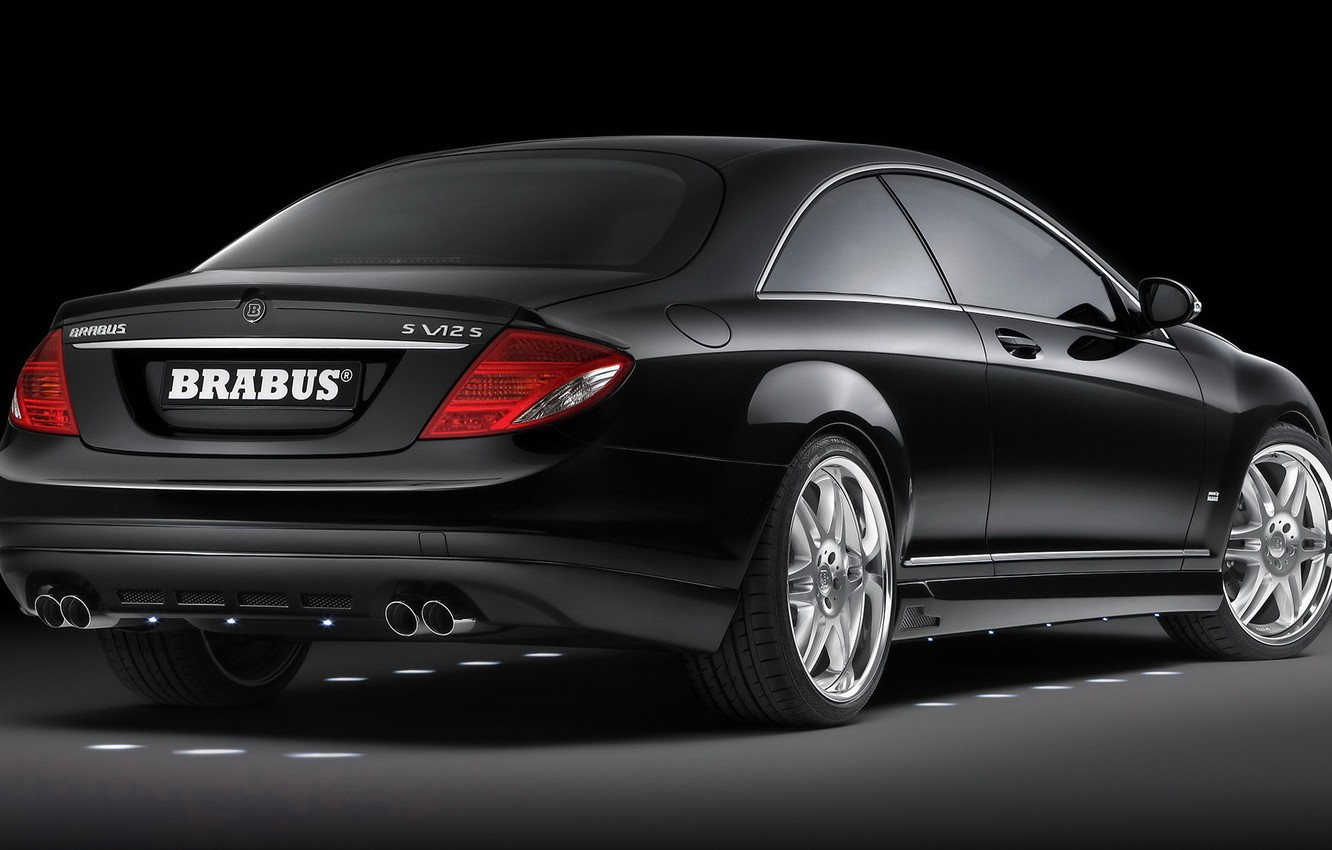 Photo wallpaper Mercedes-Benz, Brabus, Coupe, Coupe, Biturbo, CL600, C216, the latest model from generation CL-class coupé, SV12-S