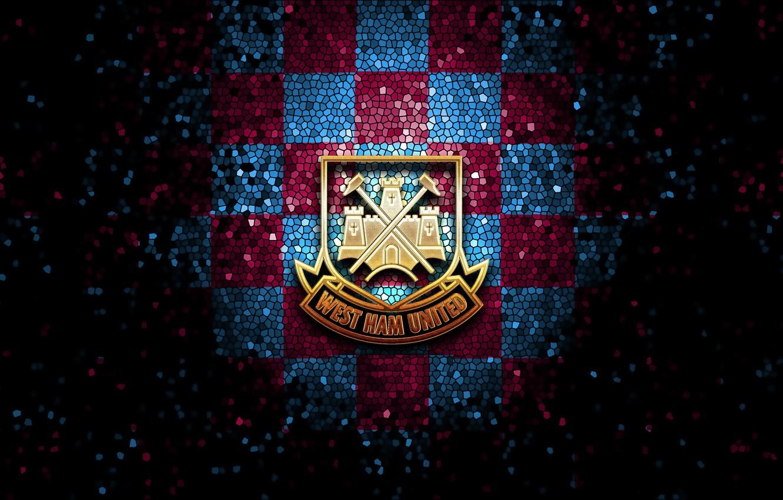 Wallpaper Wallpaper Sport Logo Football Glitter Checkered West Ham United Images For Desktop Section Sport Download