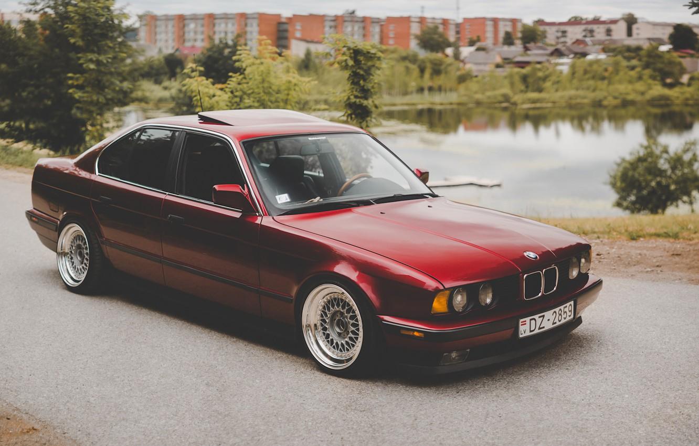 Photo wallpaper BMW, E34, 5-Series, 520I