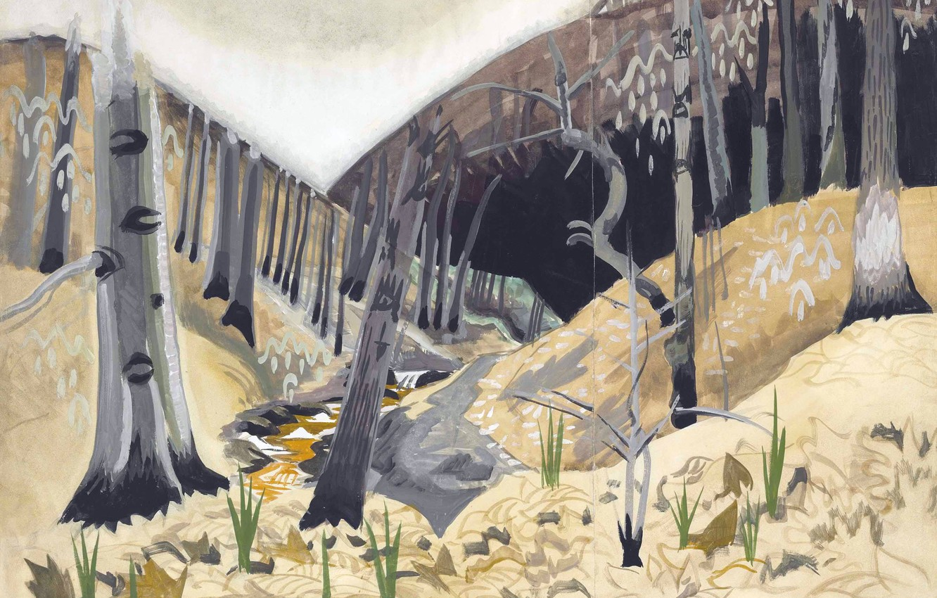 Photo wallpaper 1917, Early Spring, Charles Ephraim Burchfield