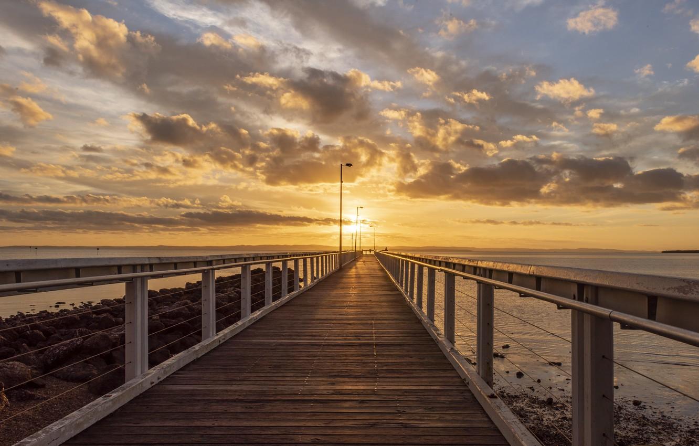 Photo wallpaper sunset, bridge, Fleur Walton