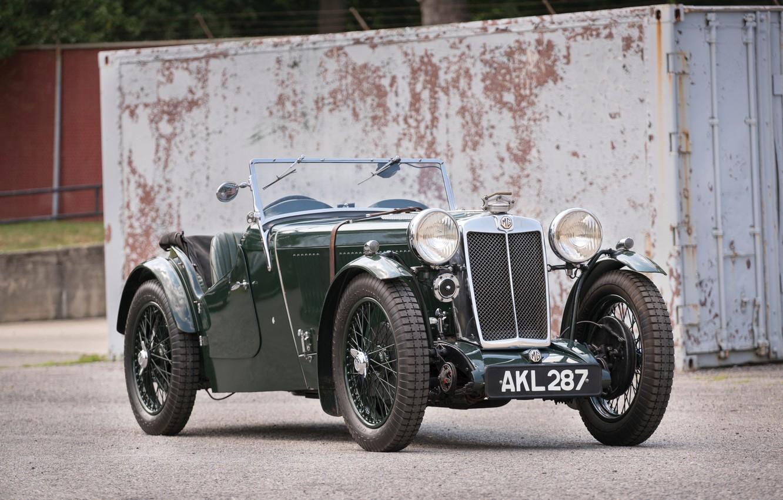Photo wallpaper Retro, Classic, Sports car, Classic cars, Sportcar, Vintage car, MG L1 Magna, MG L1, Classic …