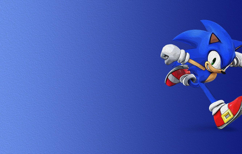 Photo wallpaper look, blue, shoes, barb, Sonic, gloves, runs, hedgehog