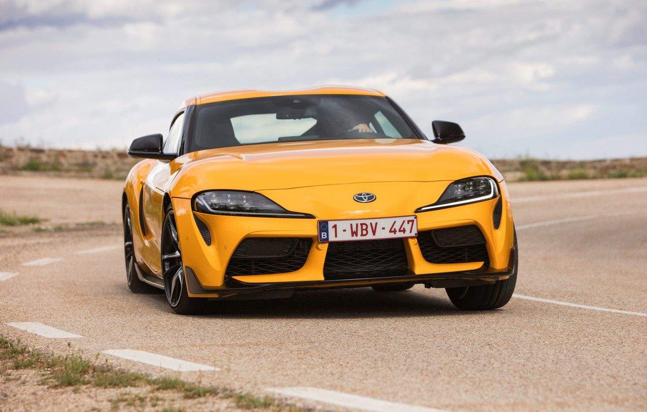 Photo wallpaper movement, coupe, turn, Toyota, Supra, the fifth generation, mk5, double, 2019, GR Above, A90, Gazoo …