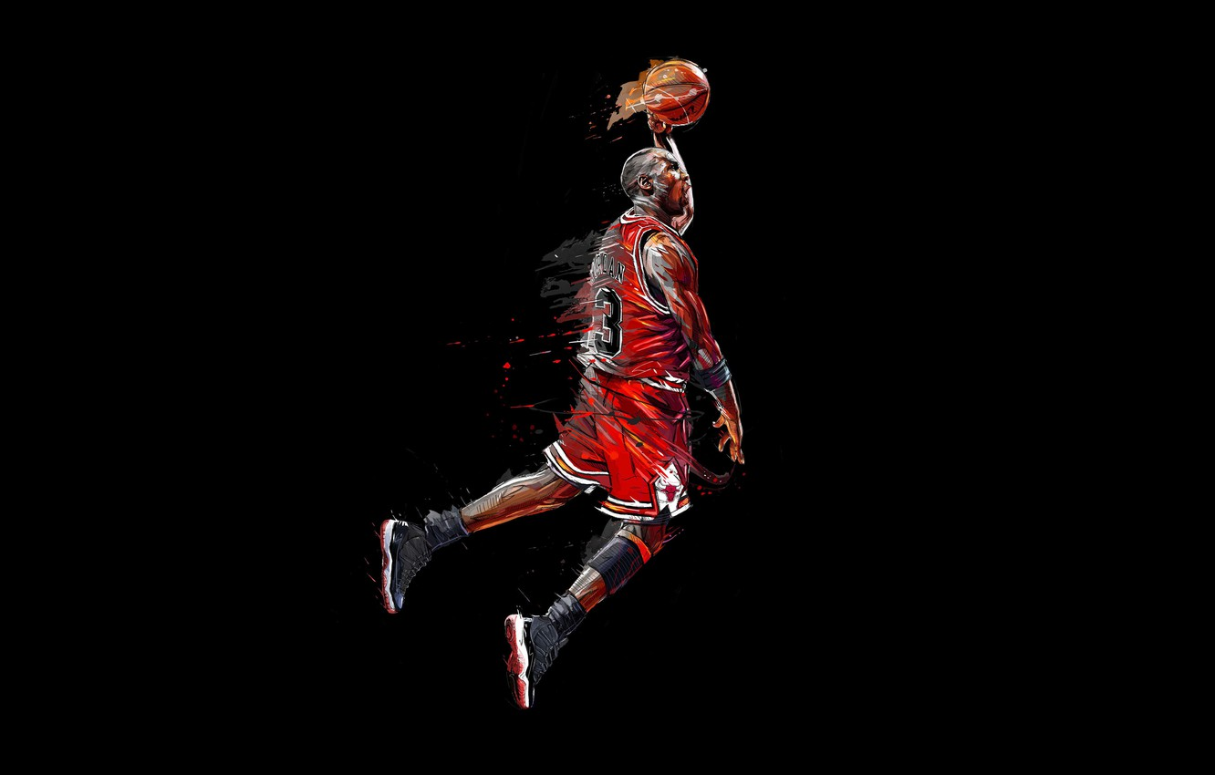 Photo wallpaper Michael Jordan, Basketball, Artwork