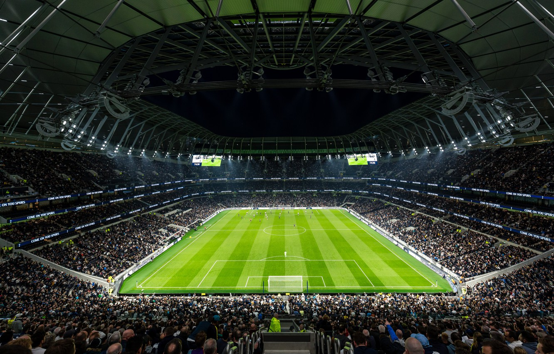 Photo wallpaper field, football, stadium, stadium, match, tottenham hotspur, Tottenham, spurs, New White Hart Lane