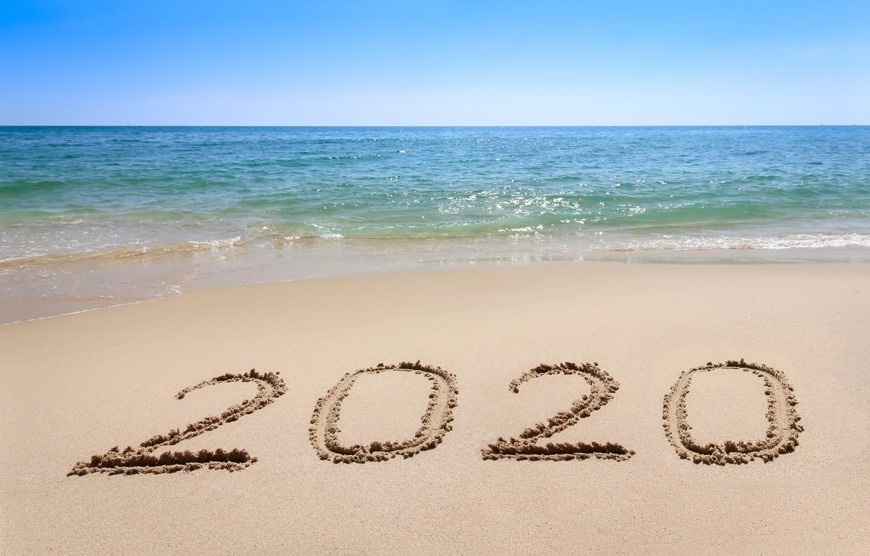 Wallpaper Sand Sea Beach New Year New Year Happy Beach