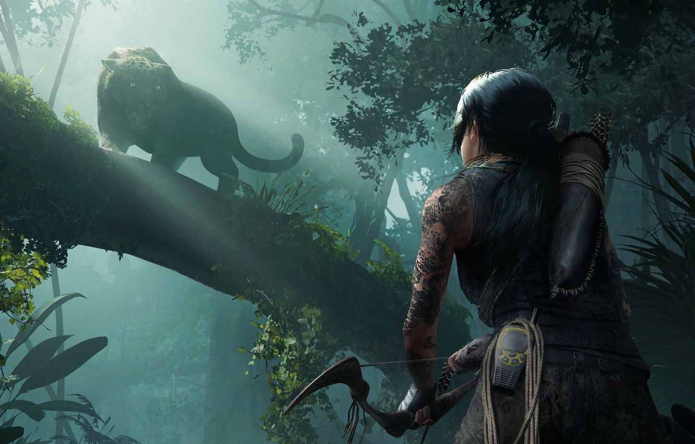 Wallpaper Game Jungle Lara Croft Beast Shadow Of The Tomb