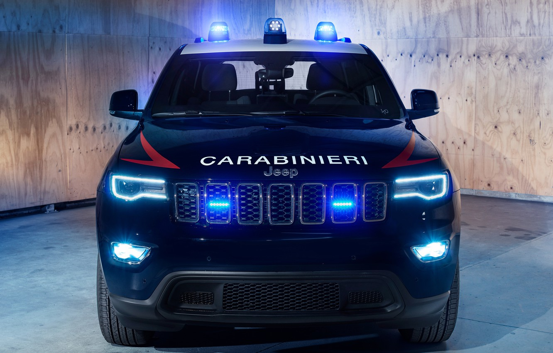 Photo wallpaper Police, 2018, Carabinieri, flashers, Jeep, Grand Cherokee