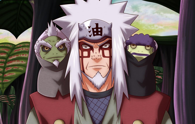 Photo wallpaper Naruto, Naruto, toad, Jiraiya
