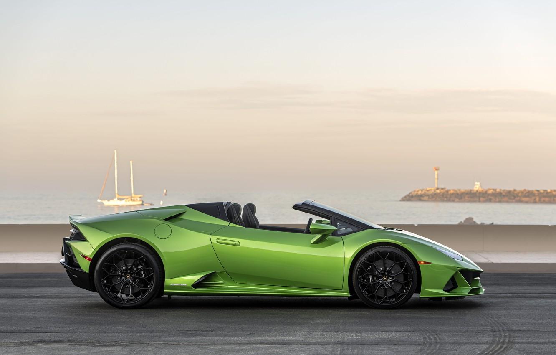 Wallpaper Lamborghini, side view, Spyder, Evo, Huracan, 2019