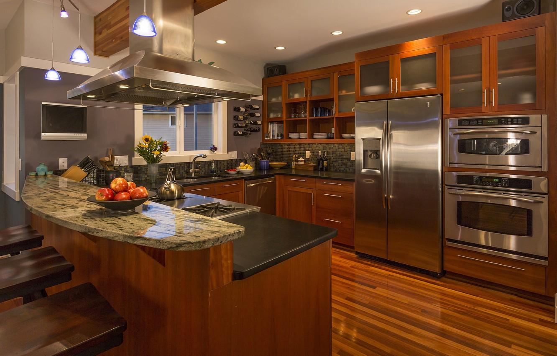 Photo wallpaper design, interior, kitchen