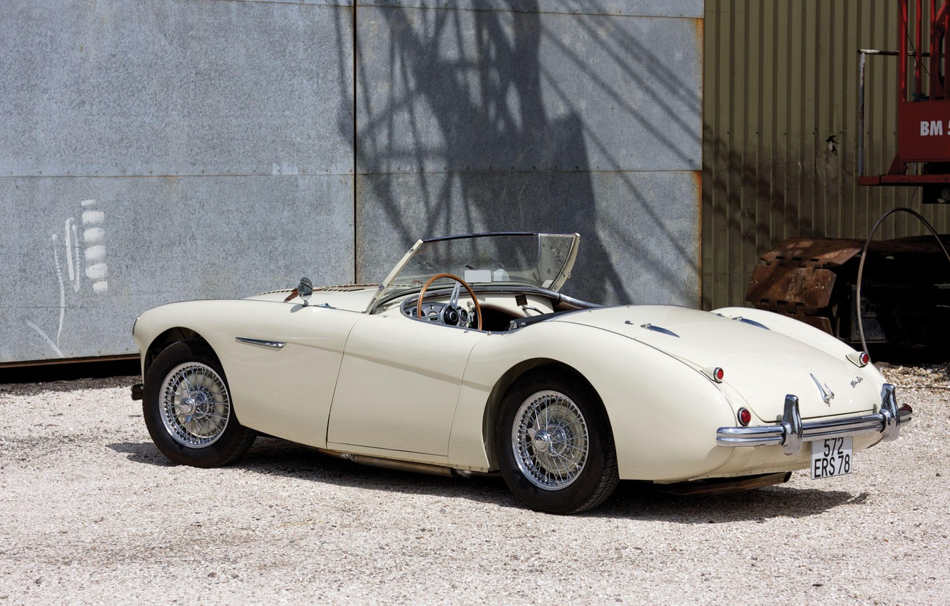 Photo wallpaper Roadster, The Mans, retro, Austin-Healey 100M