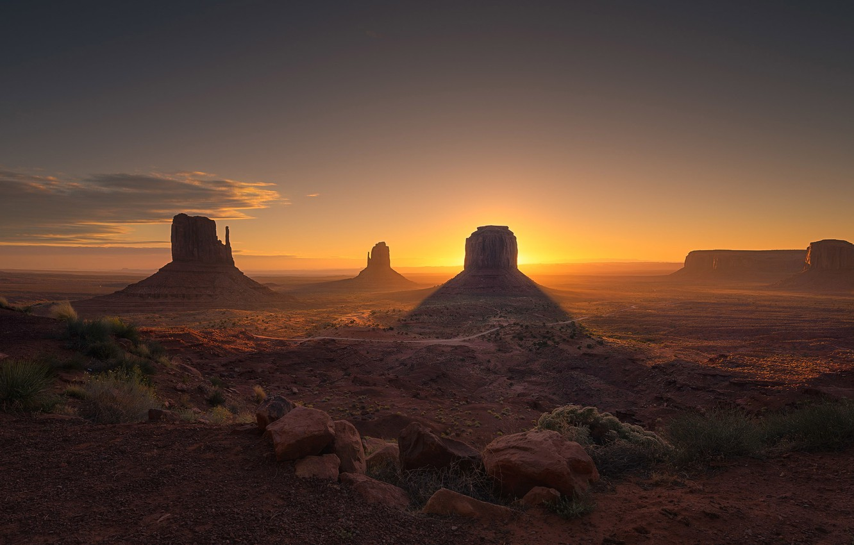 Photo wallpaper sunset, Utah, Sunset, Utah, Monument Valley, Monument valley