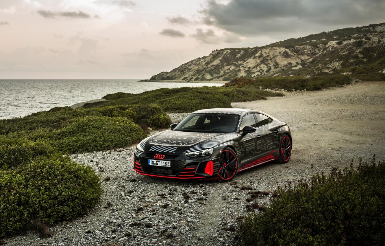 Photo wallpaper Audi, coast, coupe, 2020, RS e-Tron GT Prototype