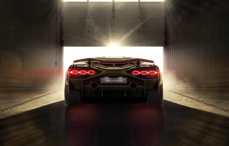 Photo wallpaper machine, light, Lamborghini, lights, supercar, Later