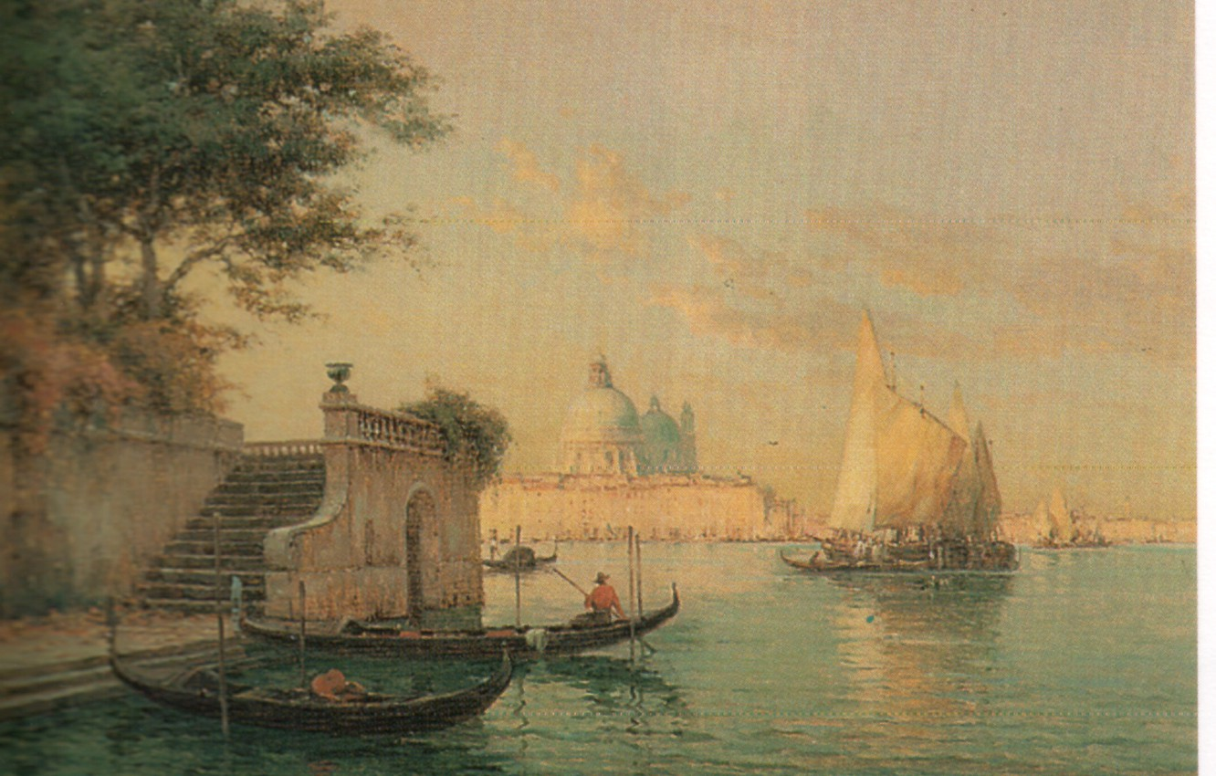 Photo wallpaper boats, sails, steps, THE GRAND CANAL, BOUVARD