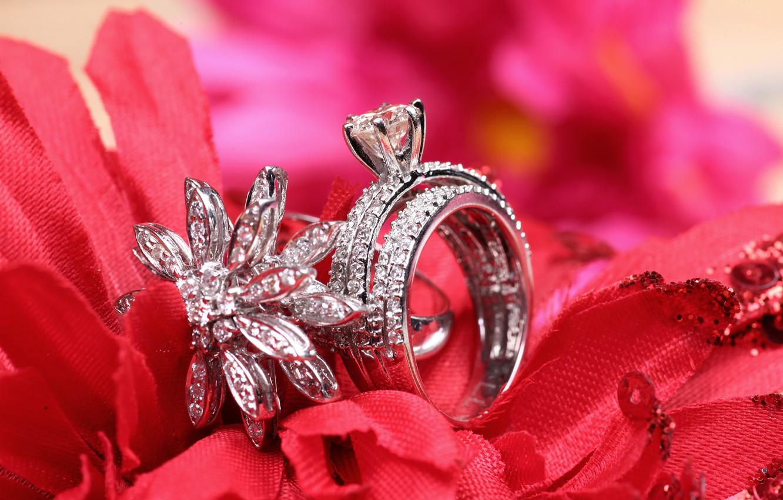 Photo wallpaper ring, decoration, wedding