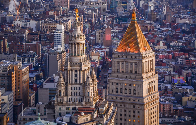 Photo wallpaper building, home, New York, panorama, architecture, Manhattan, Manhattan, New York City, Manhattan Municipal Building, Thurgood …