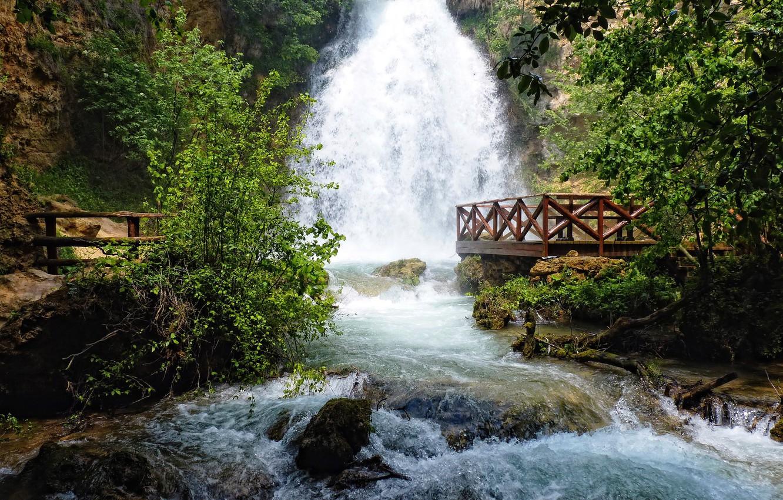 Photo wallpaper river, stones, waterfall, stream, Playground, Serbia, resavica