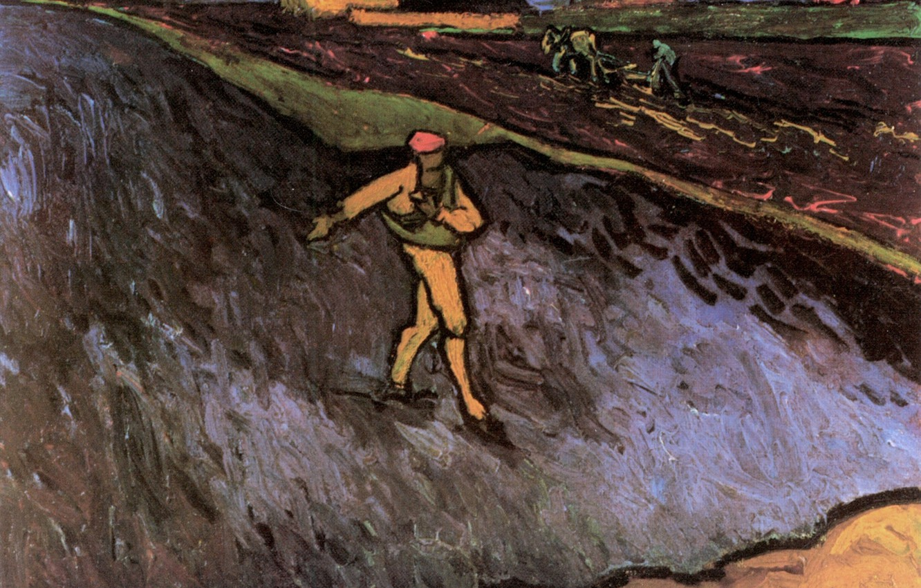 Photo wallpaper Vincent van Gogh, in the Background, Outskirts of Arles, The Sower