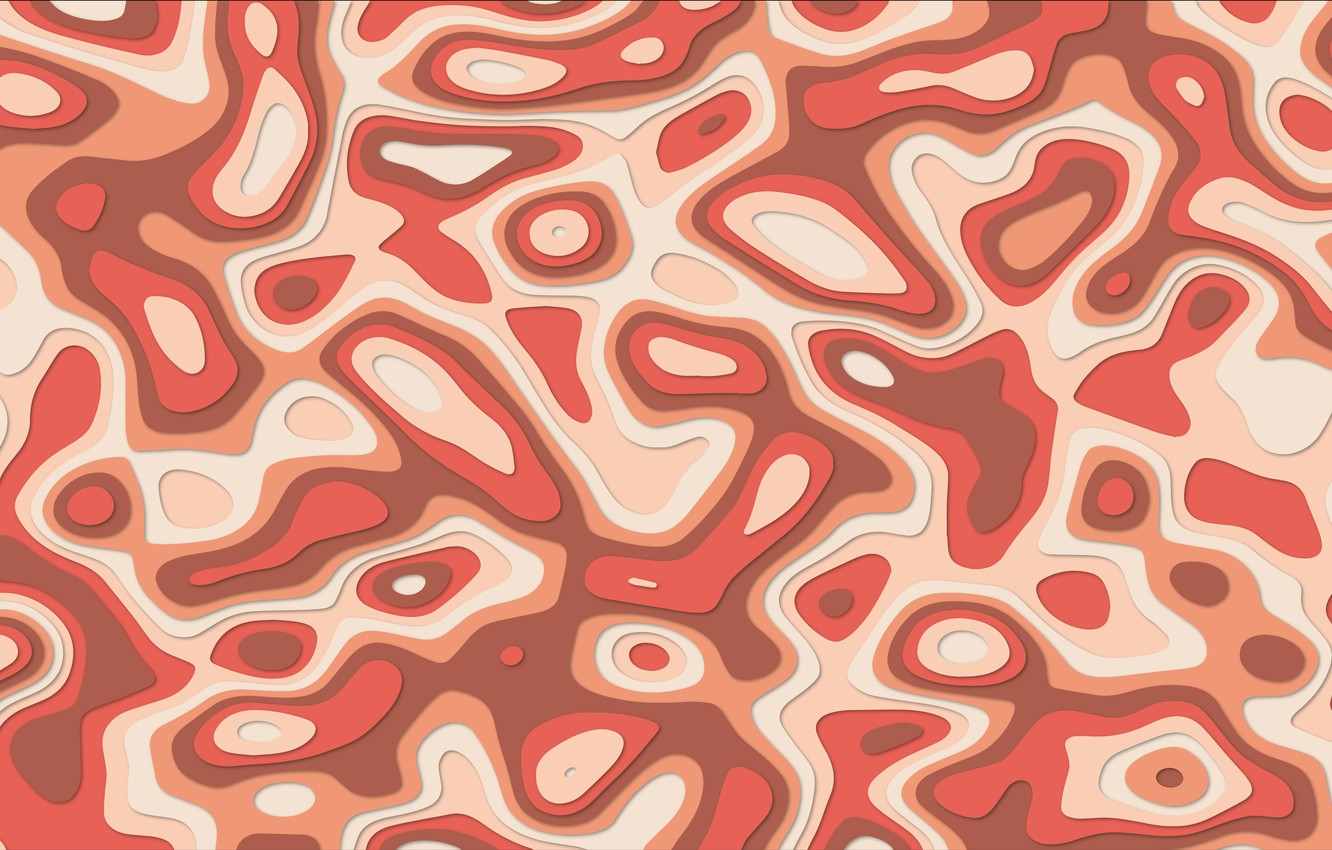 Photo wallpaper vector, red, minimalism, line, style, texture, shadow, shapes, vector art