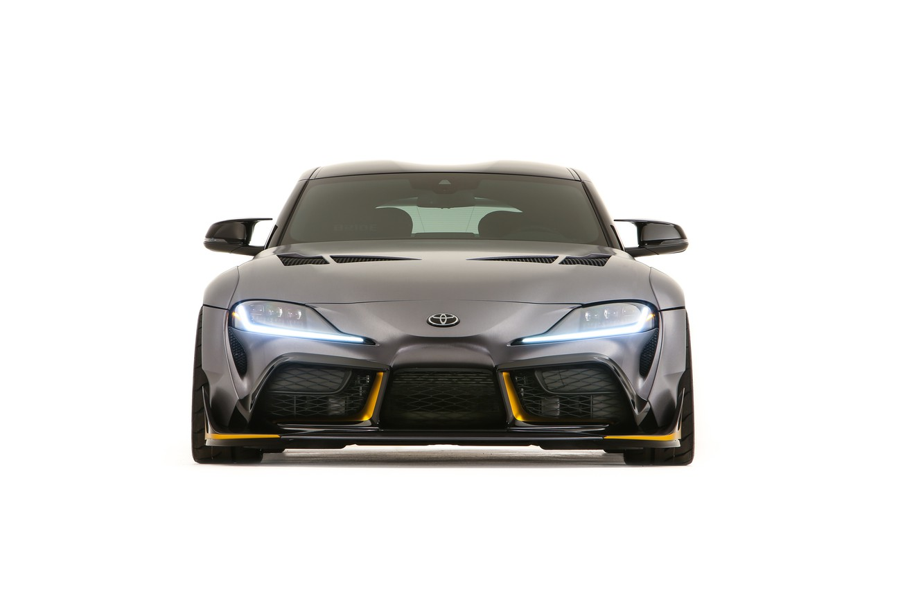 Photo wallpaper Concept, Toyota, front view, Supra, 3000GT, 2019, GR Above, A90, SEMA 2019