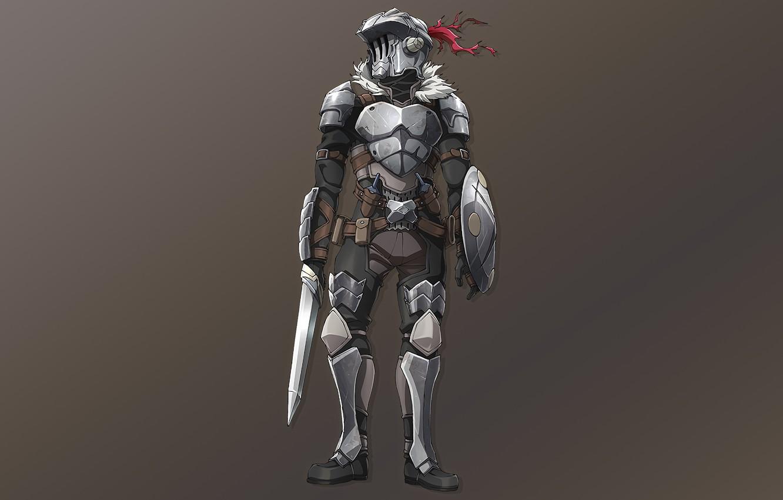 Photo wallpaper Armor, Warrior, Anime, Art, The killer of goblins, Goblin slayer