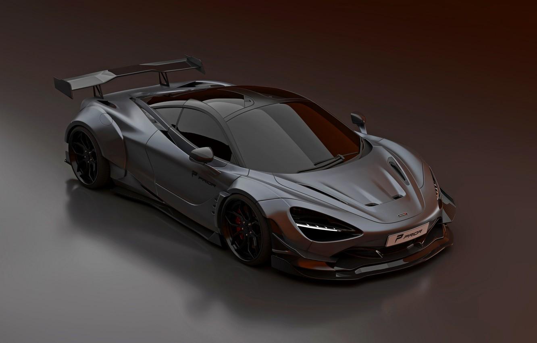 Photo wallpaper McLaren, the hood, drives, Prior Design, 2020, 720S, widebody kit