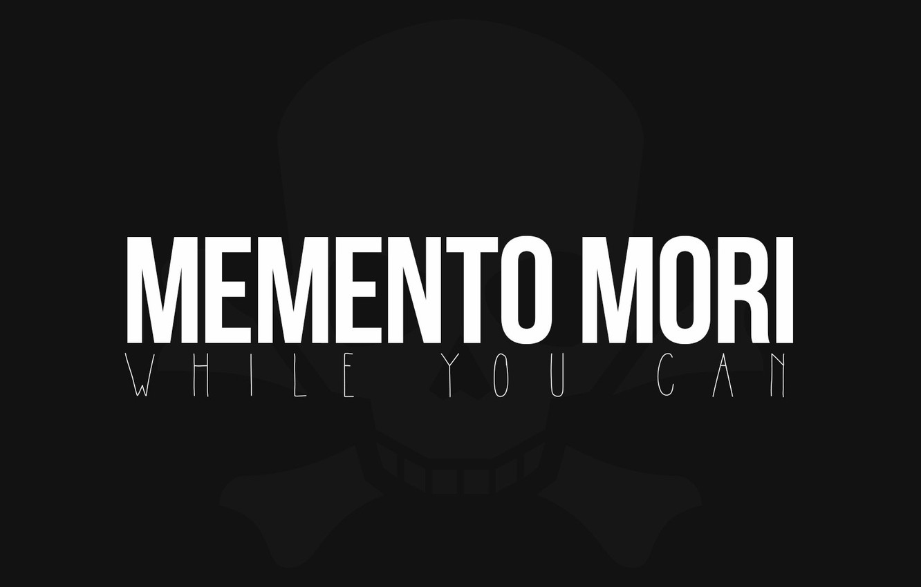 Photo wallpaper death, skull, memento mori, memento Mori, memento