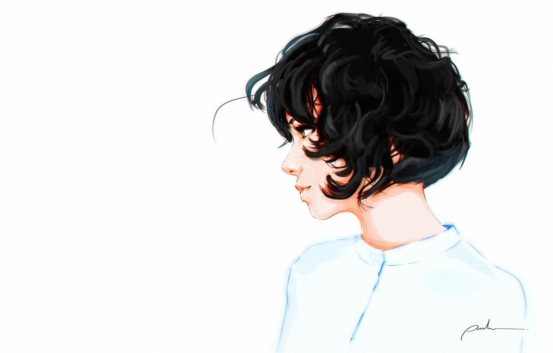 Wallpaper White Girl Figure Background Art Curly Sergey Orlov By Sergey Orlov Images For Desktop Section Minimalizm Download