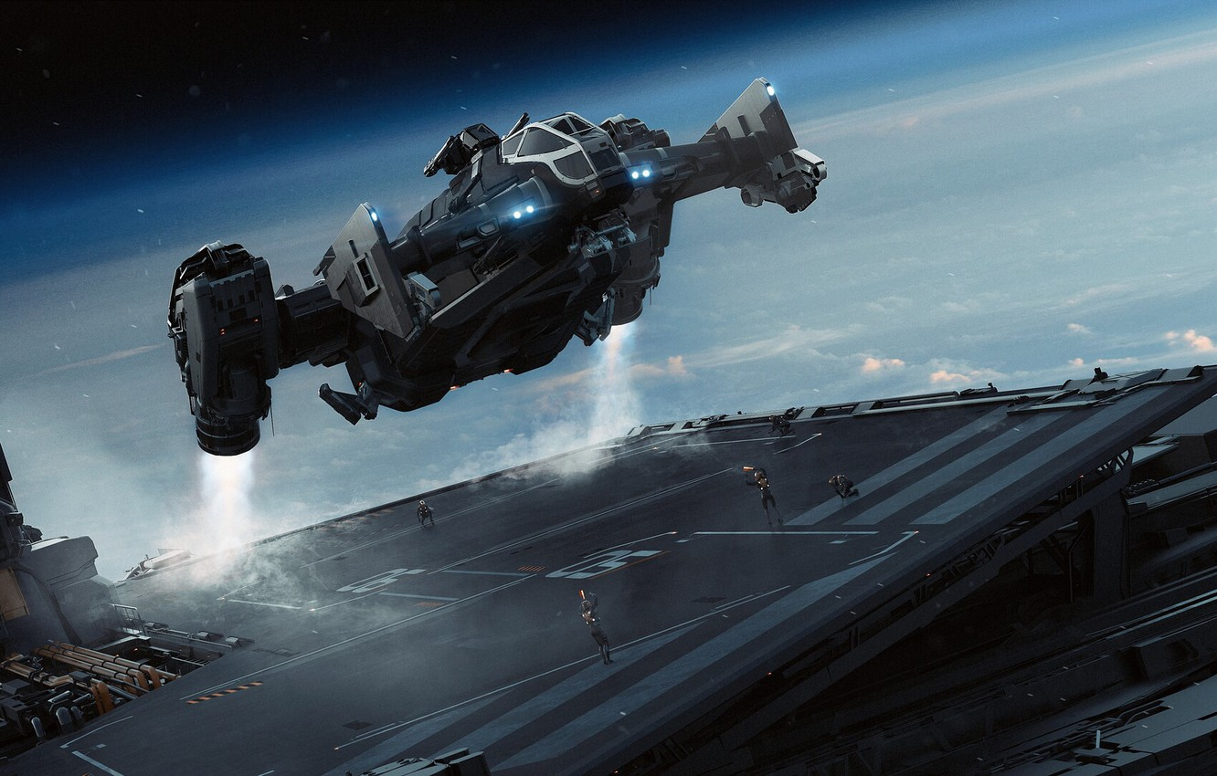 Photo wallpaper spaceship, Science Fiction, star citizen
