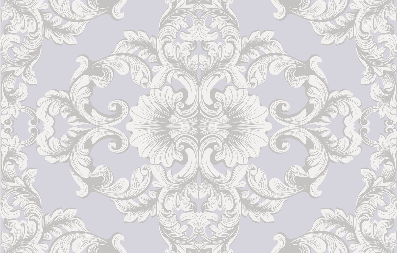 Photo wallpaper white, retro, Wallpaper, pattern, texture, grey background, vintage, flower, vintage