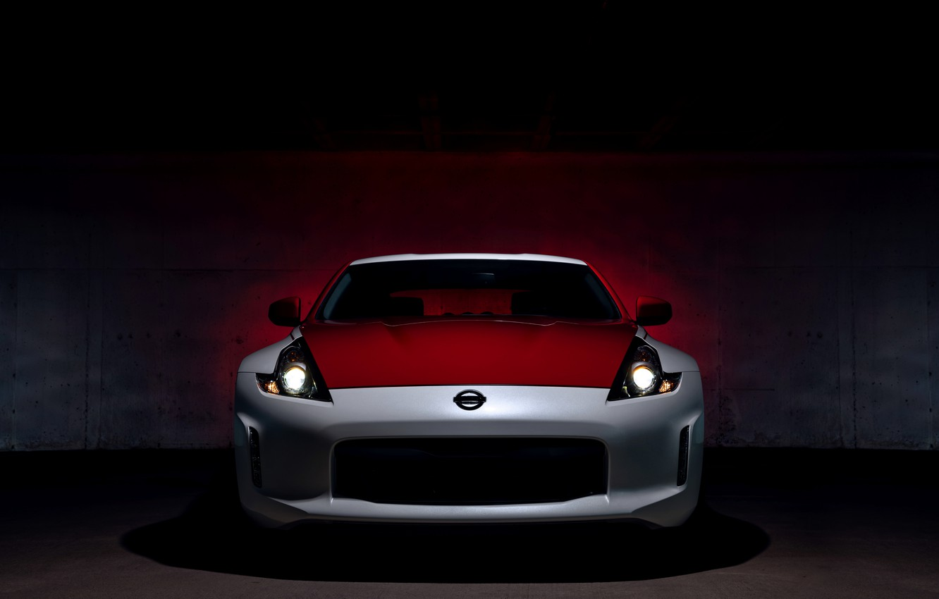 Photo wallpaper light, coupe, Nissan, front view, red-white, 370Z, 50th Anniversary Edition, 2020, 2019
