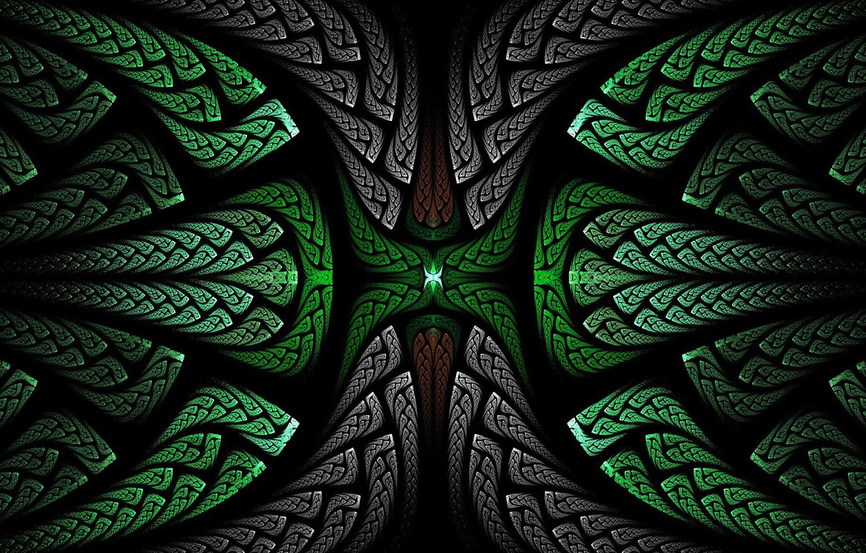 Photo wallpaper pattern, the volume, symmetry