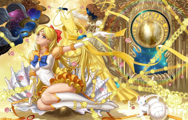 Photo wallpaper girl, art, Sailor Moon