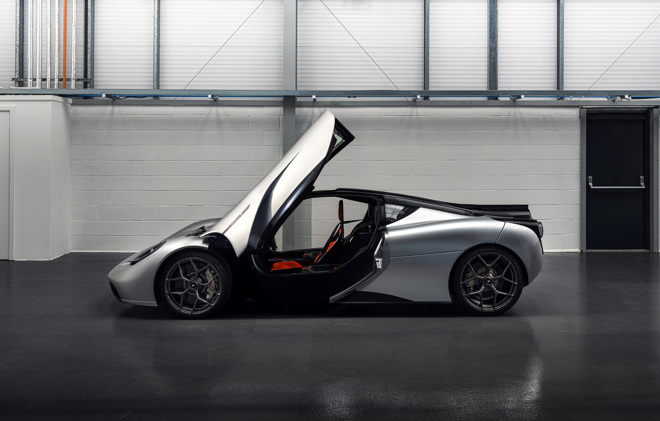Photo wallpaper coupe, the door, side view, V12, GMA, T.50, Gordon Murray Automotive, Type 50