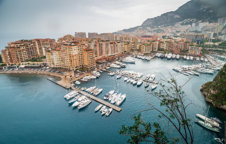 Photo wallpaper yachts, Panorama, boats, Monaco, Monaco, Panorama, Monte Carlo, Monte Carlo, Harbour, Harbour