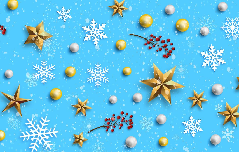 Photo wallpaper winter, snowflakes, background, blue, Christmas, blue, winter, background, snowflakes, decoration