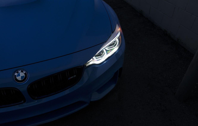 Photo wallpaper BMW, Light, Blue, F82, Sight, LED
