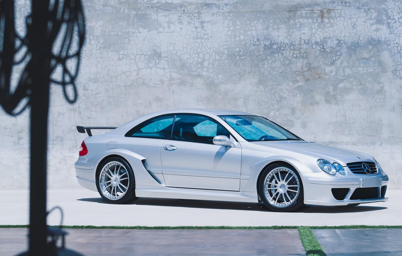 Photo wallpaper Grey, Chrome, Coupe, Sports car, 2005 Mercedes CLK DTM