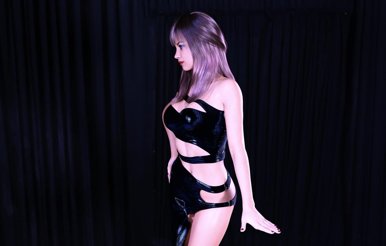 Photo wallpaper girl, model, scene