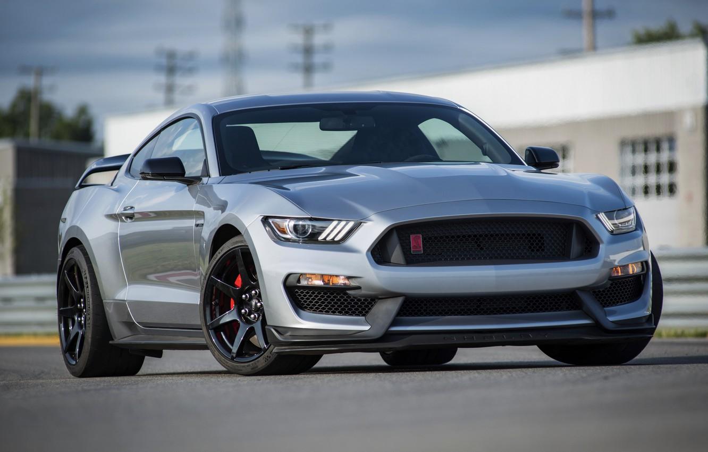 Photo wallpaper asphalt, grey, Mustang, Ford, Shelby, GT350R, 2020