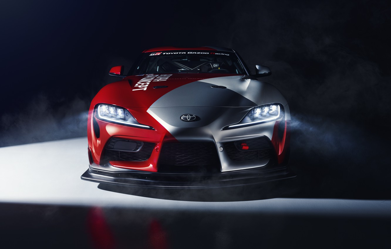 Photo wallpaper machine, light, coupe, concept, sports car, Toyota, GT4, GR Above