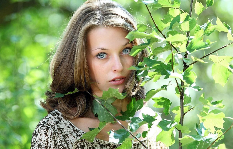 Photo wallpaper Russian model, innocence, spring has come, just Tamara, Tamara, Aleksandra Nikiforova, hair waterfall, eyes to …