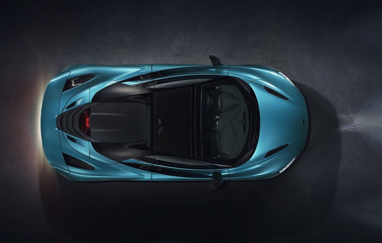 Photo wallpaper McLaren, the view from the top, Spider, 720S, 2019